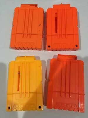 Lot Of Four 5-Darts Bullets Magazine Clip System for Nerf N-strike Elite Toy Gun