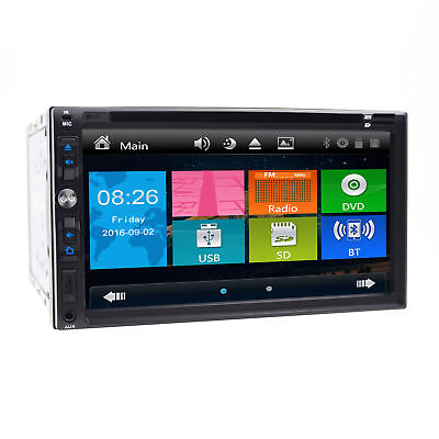 """NEW AVH-X49BS Double 2DIN DVD CD Player 7"""" HD Bluetooth Receiver iPod Car Stereo"""