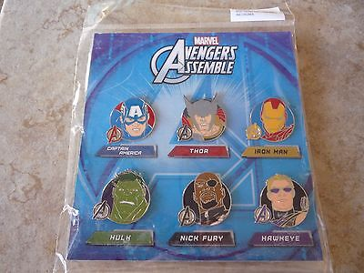 Pin Trading Disney Pins Lot of 6 Brand New Avengers Set Captain America Hero