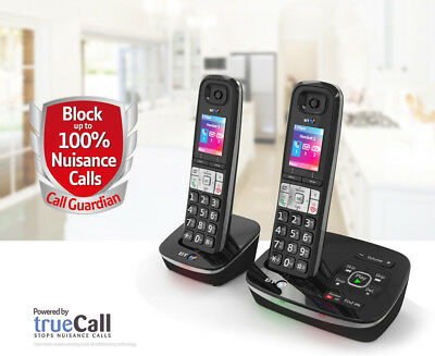 TELSTRA Call Guardian 301 Qaltel CORDLESS HOME PHONES ANS/MACHINE 2 HANDSET'S
