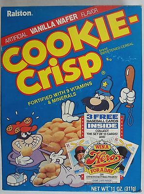 still SEALED 1987 Cookie Crisp Cereal Box Ozzie Smith Baseball Cards Ralston