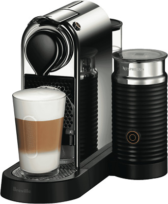 NEW Nespresso BEC650MC Breville Citiz and Milk Capsule Machine - Chrome