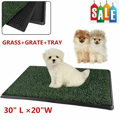Indoor Puppy Dog Pet Potty Training Pee Pad Mat Tray Grass House Toilet W/tray B
