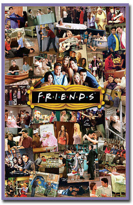 "Friends TV Show Cast Collage Fridge Magnet Collectible Size 2.5"" x 3.8"""