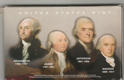 USA 2007 uncirculated mint set presidential dollars