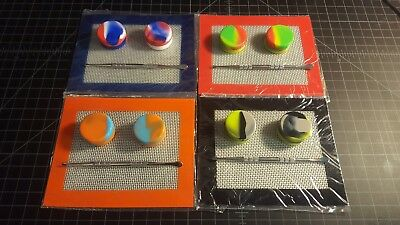 Silicone wax kit- pick from 4 colors! 2 wax containers, gold dabber tool dab oil