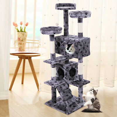 """Cat Tree 60"""" Tower Condo Furniture Scratching Post Pet Kitty Play House"""