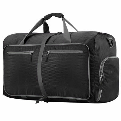 Foldable 60L Travel Waterproof Storage Luggage Carry On Hand Shoulder Duffle Bag