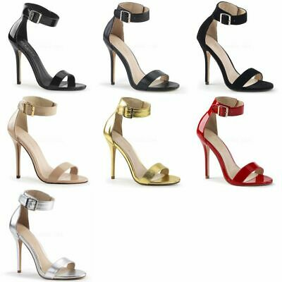 PLEASER Amuse-10 Strappy Open Toe Dress Party Evening Heels LARGE PLUS SIZE 4-15