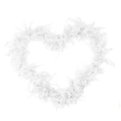 2M Feather Boas Fluffy Craft Costume Dressup Wedding Party Home Decor White O3C8