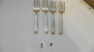Set Of 4  Majestic   Mjc1   Salad Forks     Silverplate