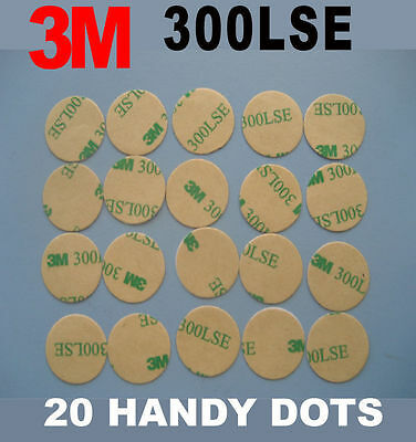 20 Pcs of 3M 300LSE Heavy Dudy Double Sided Dots High-strength adhesive tape