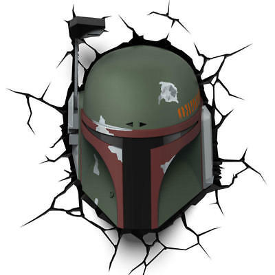 Lampara led 3D pared Boba Fett Star Wars Disney