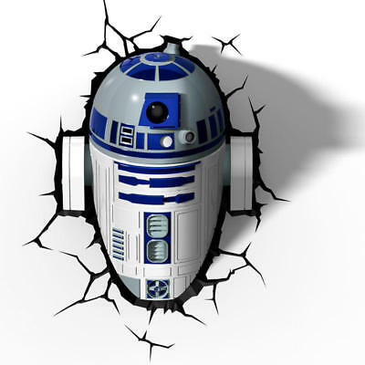Lampara led 3D pared R2-D2 Star Wars Disney