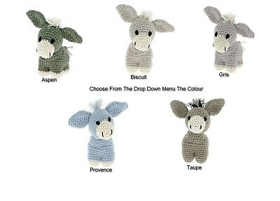 Hoooked DIY Amigurumi Crochet Kit Joe Donkey Eco Barbante