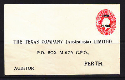 POSTAL STATIONARY: E19a 2d ON 1 1/2d  KGV EMBOSSED IN VERY FINE MINT THE TEXAS C