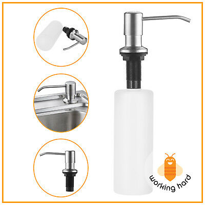 Stainless Steel Built In Pump Kitchen Sink Soap Dispenser Plastic