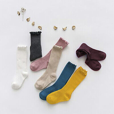 Cute Girl Kids Knee High Socks Stocking Cotton Baby Toddler Leg Warm Leggings