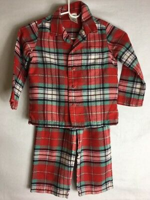 Lands' End, Two Piece Flannel Pajama Set Girls Or Boys, Size 4T