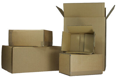 5 Cardboard Corrugated POSTAL POSTING BOX SHIPPING STORAGE BOXES  550x274x532mm