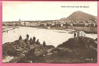 North Berwick from the Beach, East Lothian, Scotland postcard Valentine's Series