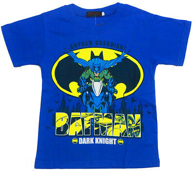 New Size 3-7 Kids Batman T-Shirt Tees Top Boys Children Christmas Gift Superhero