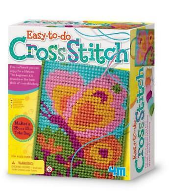 4M Easy-to-do Cross Stitch: Ideal Craftwork kit for beginners and children 8 plu