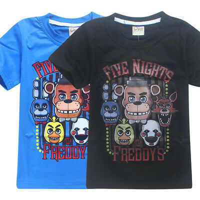 Kids Boys Five Nights at Freddy's FNAF Clothing Short Sleeve T Shirt 4-12yrs