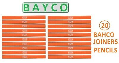 Pencils 20 X Joiners / Carpenters / Builders Pencils By Bahco Joiners Pencils