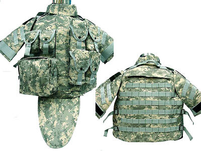 Tactical OTV Cushion Combat Vest Magazine Pouch Airsoft Paintball Military ACU