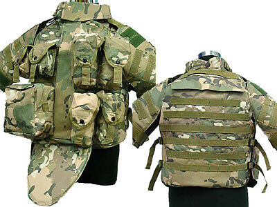 Tactical OTV Cushion Combat Vest Magazine Pouch Airsoft Paintball Military CP
