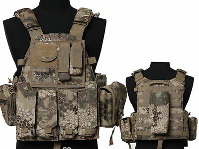 Tactical Multi Attack Molle Combat Vest Magazine Pouch Airsoft Paintball HLD