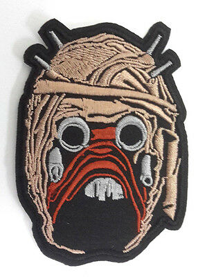 """Star Wars Tusken Raider Head 3.5"""" Embroidered Patch- Mailed from USA(SWPA-FC-44)"""