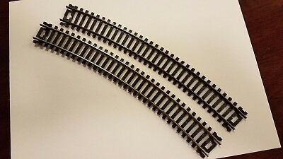 """HO Train Vintage Atlas Snap Nickle 18"""" Right Curved Lot of 2 Tested Lubricated"""