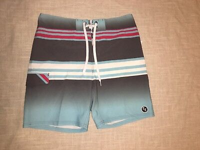 5c24dd2724 NWT EZEKIEL MEN'S Board Shorts Swim Trunks Blue Grey Red Size 34 ...