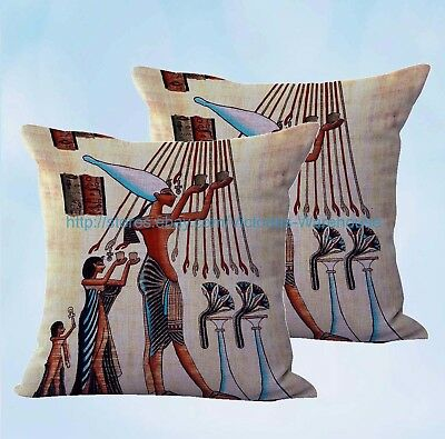 set of 2 Ancient Egyptian art offering cushion cover cushion case