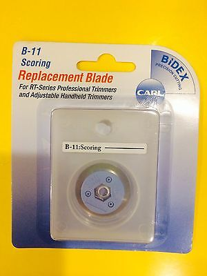 CARL B-11 SCORING Rotary Replacement Blade B11 Carl Trimmers ~ FREE SHIPPING!!!