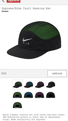 4c561e4bd SUPREME X NIKE Trail Running Hat Green Confirmed Order FW17 Sold Out!  Scarface