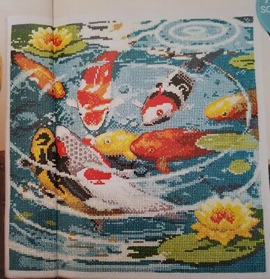 Pheonix rising cross stitch pattern by carol thornton 1 for Koi pool thornton
