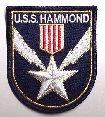 "Stargate SG-1 USS Hammond  Logo 3.75"" Uniform  Patch- FREE S&H  (SGPA-37-H)"