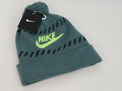 b8a1ffaec NWT NIKE FUTURA COLD WEATHER NIKE LOGO POM KNIT BEANIE HAT RUST msrp ...