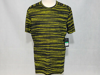 48e9d626e080 Nike Mens Baselayer Fitted Dry Graphic T shirt Black Gold Dri-Fit Tee XL NWT