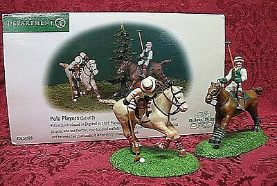 Department 56 Dickens Village Accessory # 58529~Polo Players~Set Of 2