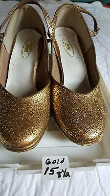 Gold Tap Shoes SIZE 8-1/2. #15