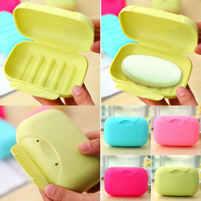 New Home Bathroom Shower Travel Hiking Soap Box Dish Plate Holder Case Container