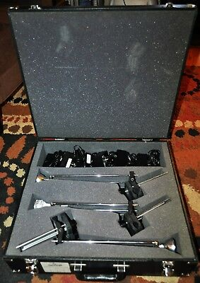 TECH Lighting - Six (6) 700CP1-BK With Power Supplies, Universal Clamp, and Case