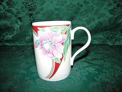CROWN TRENT STAFFORDSHIRE ENGLAND Bone China Orchid by JOHN RUSSELL Mug/ Cup