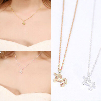 Mythical Unicorn Charm Pendant Necklace Gold/Silver Plated Jewelry Women Gifts