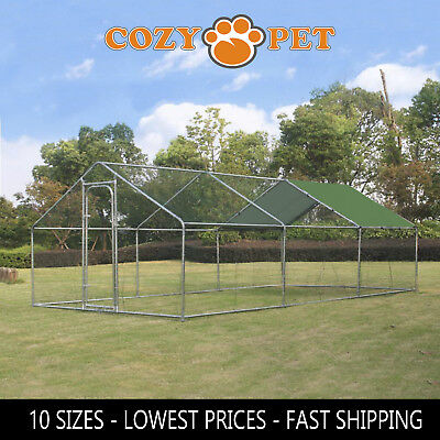 Chicken Run 10 Sizes suitable for Hens Dogs Poultry Rabbit Ducks Coop Chickens