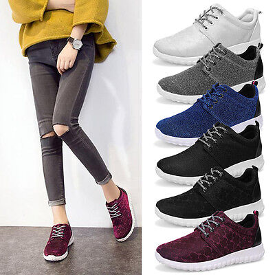 Women Breathable Running Sneakers Sports Walking Glitter Shoes Trainers WS10